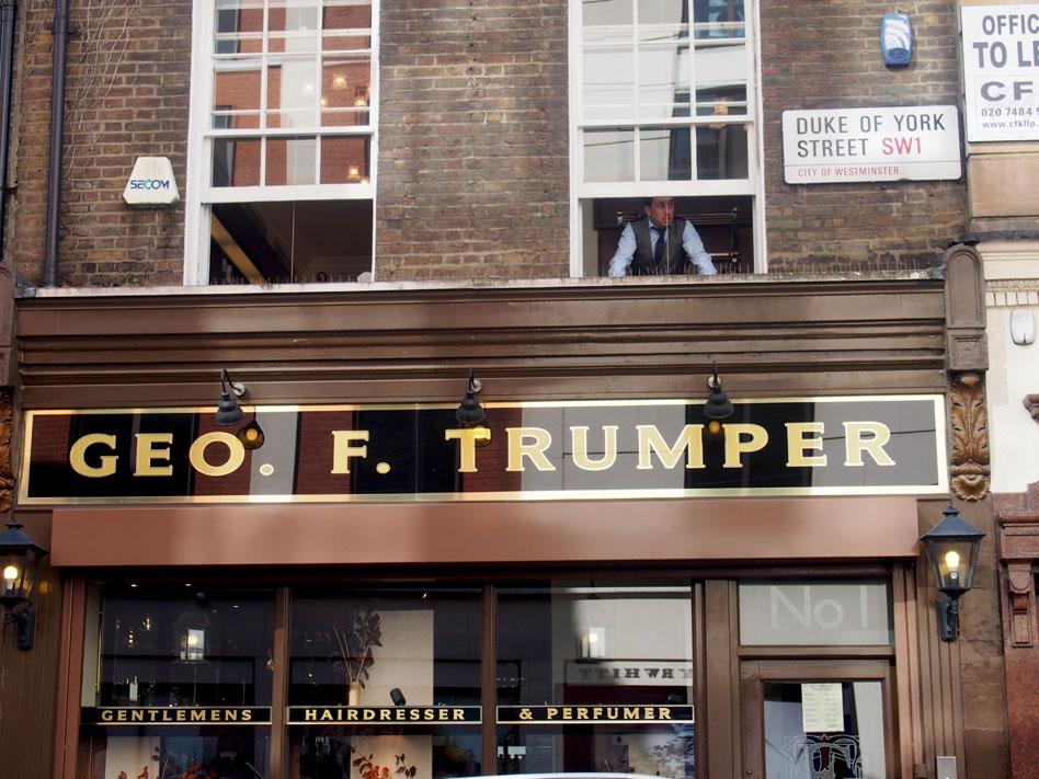 ropa estilo British para hombre en Londres geo F trumper