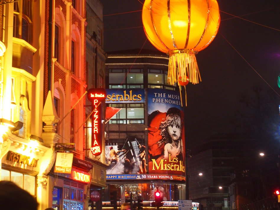Ruta iluminación Navidad Londres China Town
