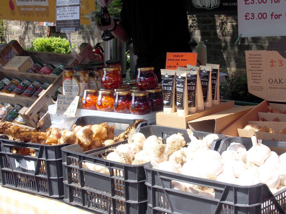 Farmers market comida biológica en Londres conservas