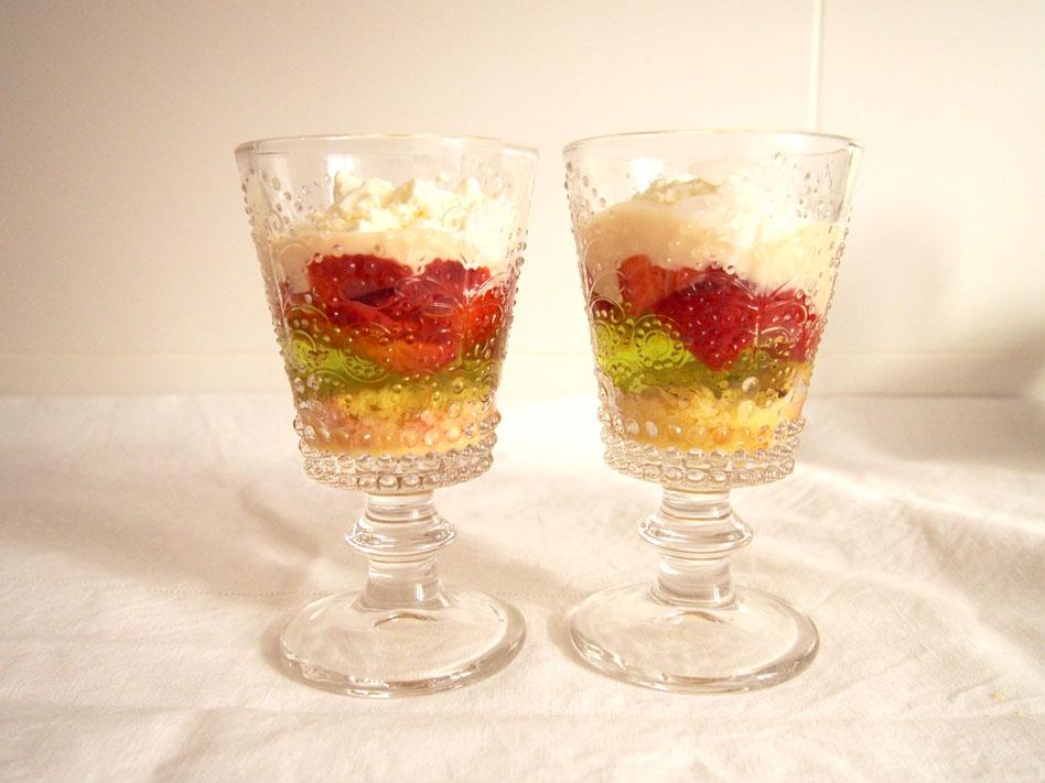 Trifle postre inglés Copas