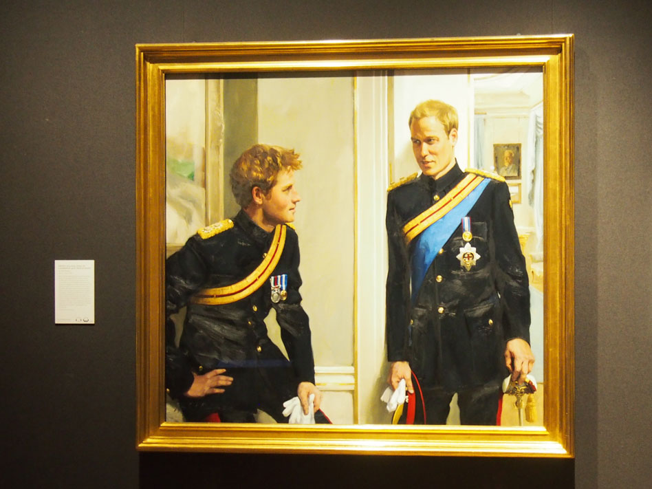 National Portrait Gallery de Londres principes william y harry
