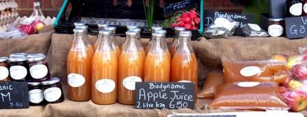 Comida biológica en Londres farmers market