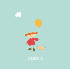 Dibujo para niños Una niña y un globo