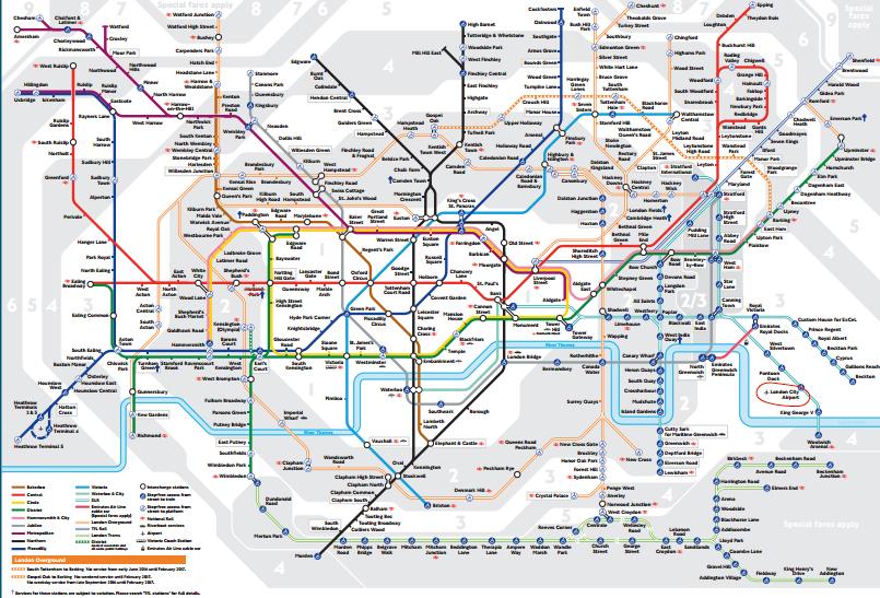 Aeropuerto de la City de Londres mapa metro