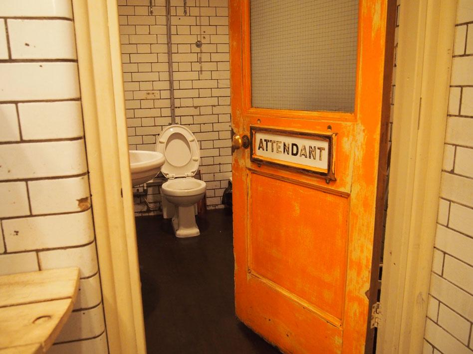 El bar de los baños públicos de Londres baño