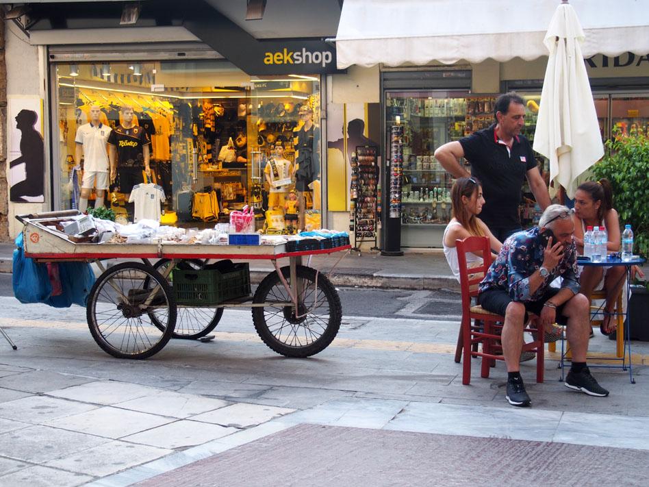 Grecia Atenas calle OIOLOU