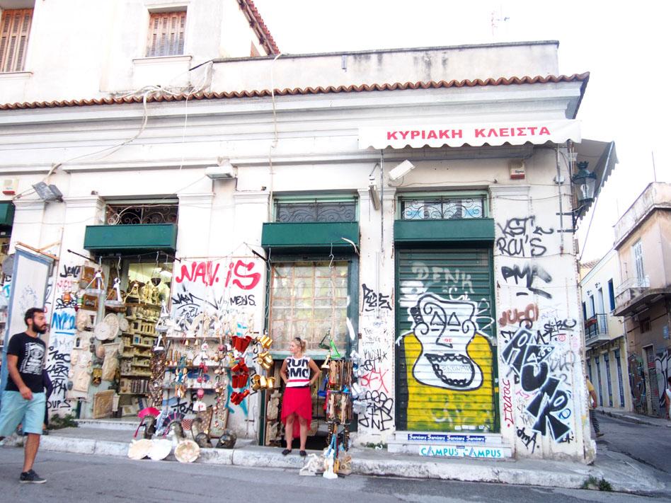 Grecia Atenas grafitis
