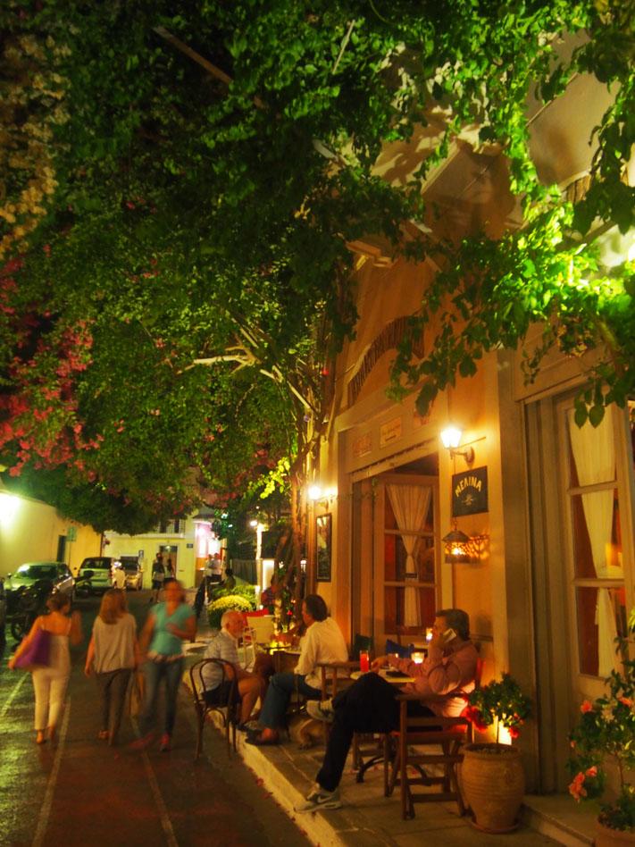 Grecia Atenas paseo de noche