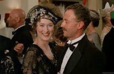 Karen Blixen con Berkeley Cole en la película.