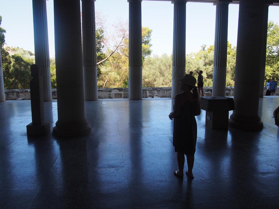 Acrópolis y ágora antigua museo del Ágora