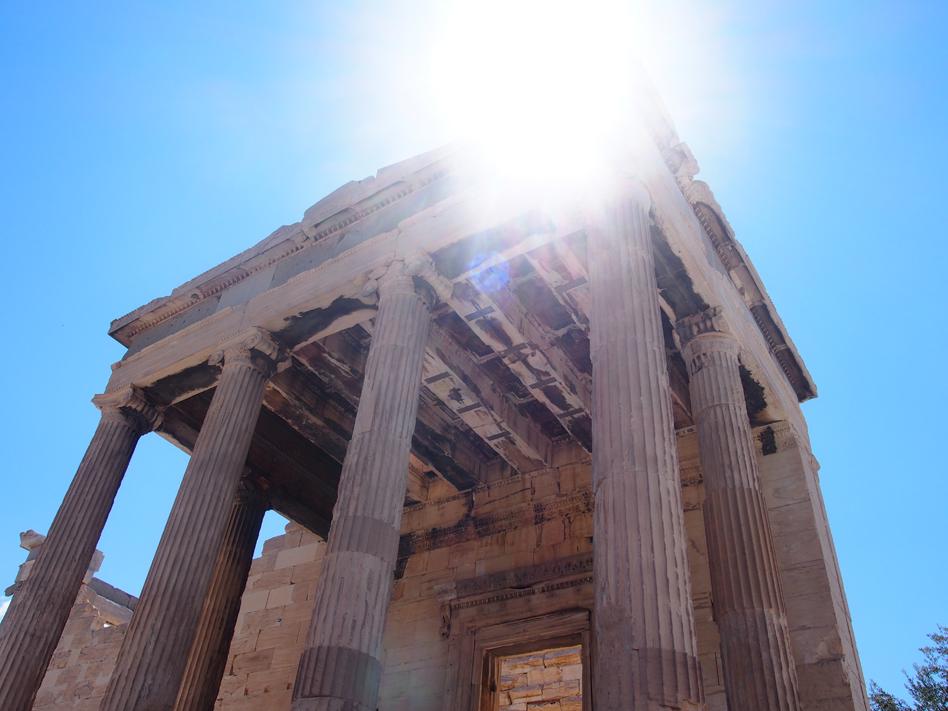 Acrópolis y ágora antigua templo