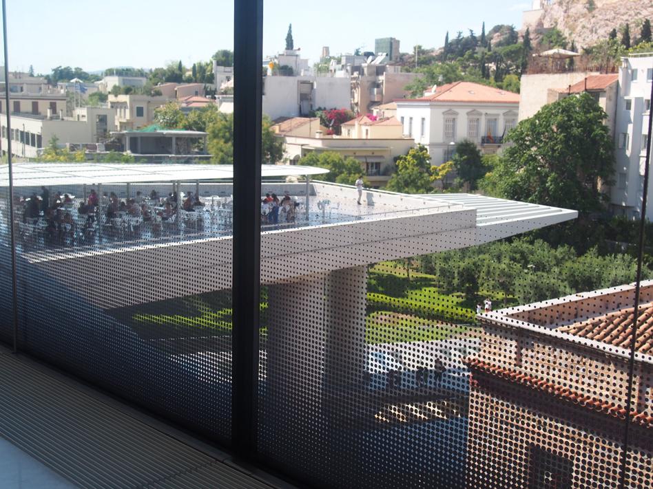 Acrópolis y Ágora antigua vistas cafetería