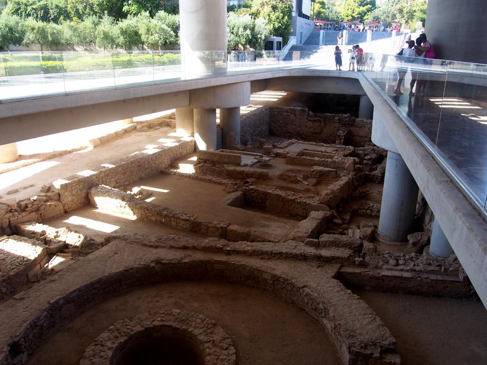 Acrópolis y Ágora antigua restos museo