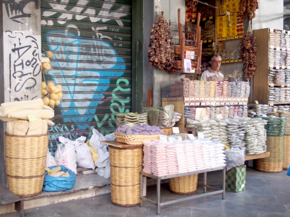Mercado Central de Atenas puesto