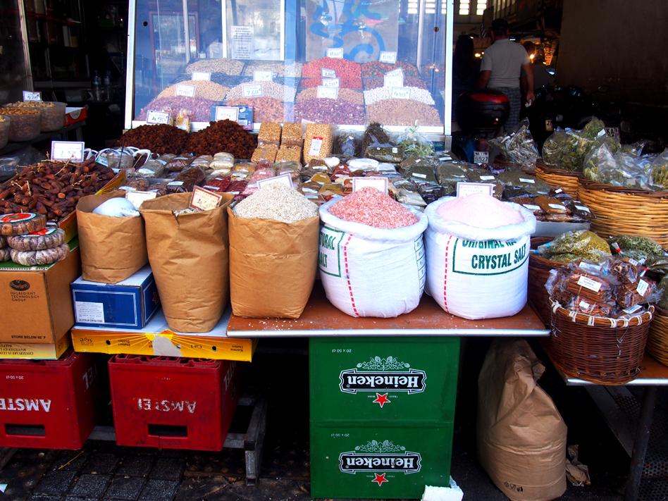 Mercado Central de Atenas sacos arpillera