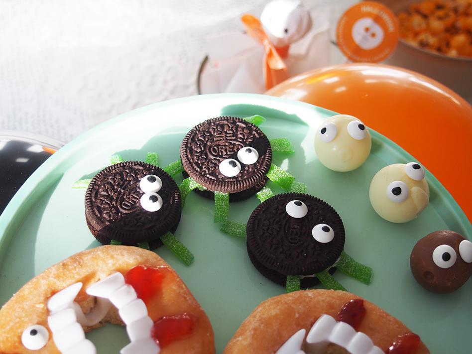 Ideas-geniales-de-comida-para-Halloween-araña oreo