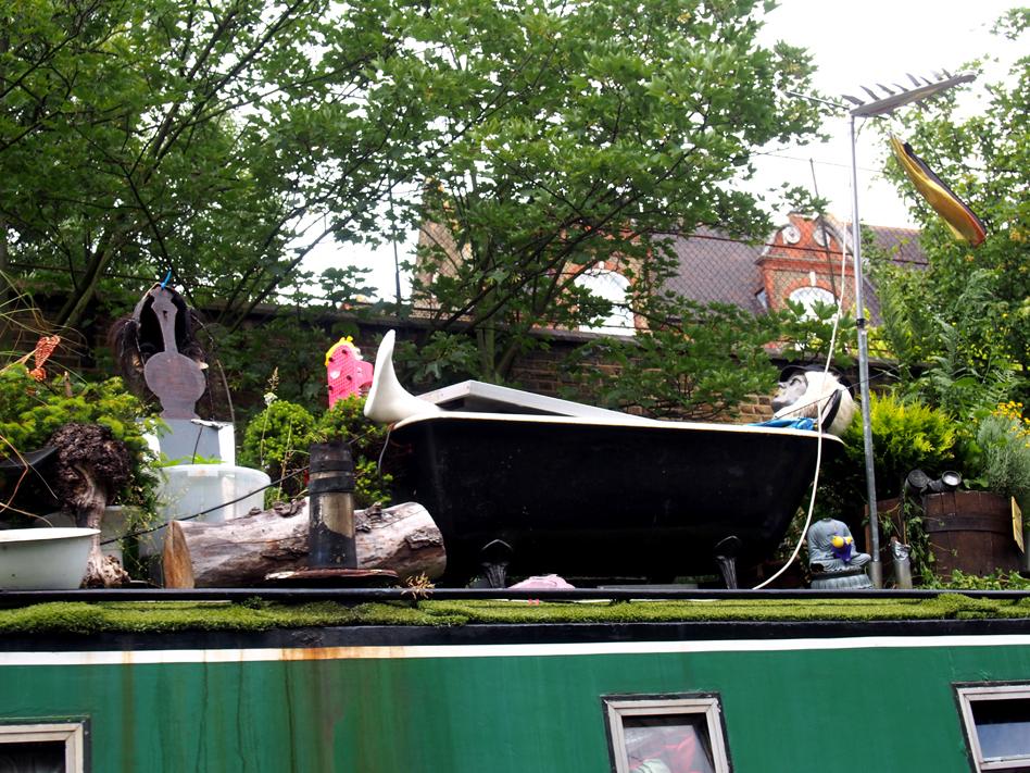 De little venice a camden town en barco maniquí