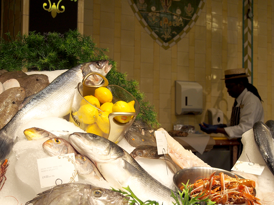 food hall de harrods pescado