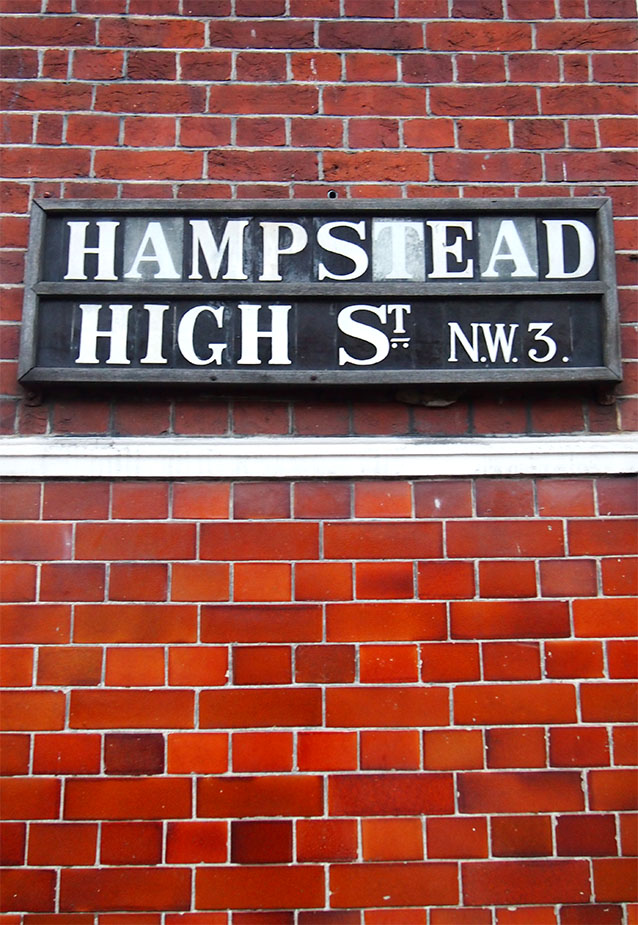 Placa en Hampstead High St