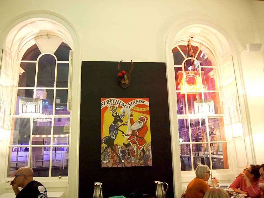 Somerset House en navidad restaurante ventanales