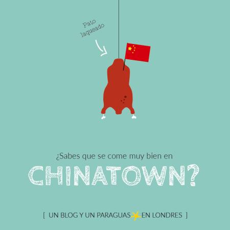 Comer en Chinatown de Londres dibujo