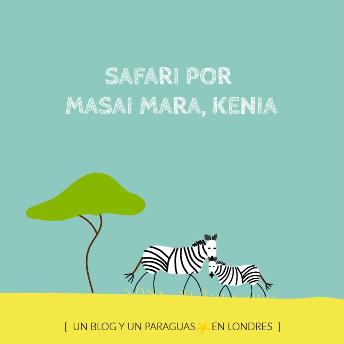 Safari Masai Mara ilustración