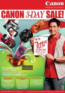 "Canon joins the ""Sale"" Bandwagon!"