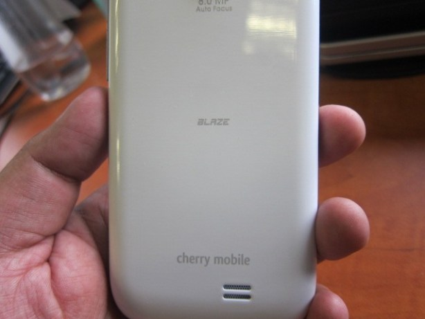 Cherry Mobile branding is at the back, not at the front. Makes it even look more like the S3, lol.