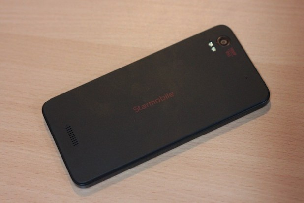 Black matte finish with red Starmobile logo at the back