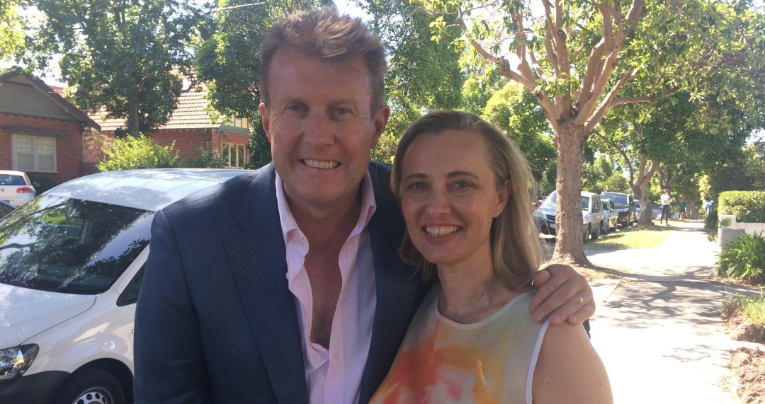 Megan Barrow with 60 Minutes Anxiety reporter Peter Overton