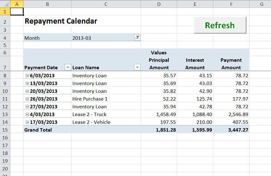 Lease Amortization Schedule Equipment Payment Excel Calculator - deferred payment loan calculator excel