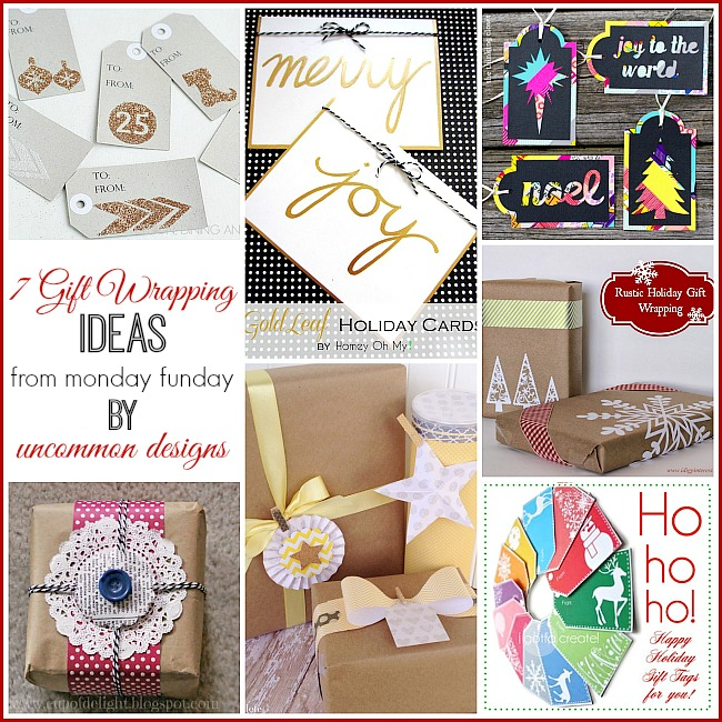 7 Gift Wrapping Ideas from #mondayfunday #giftwrapping #christmas