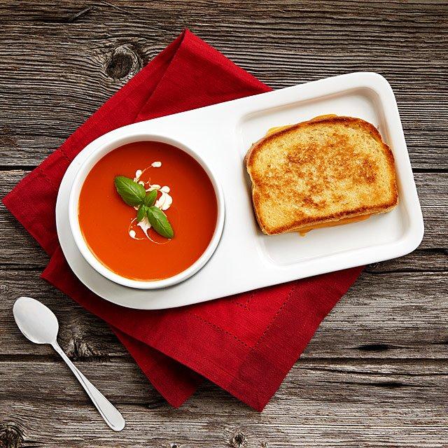 Soup \ Sandwich Ceramic Tray Duo Plate, Set, Bowl, Platter - p amp amp l forms