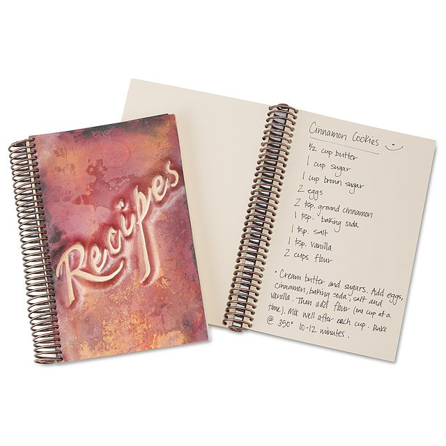 Copper Recipe Journal Coppery, Brushed Coppers Recipes Handmade - recipe journals