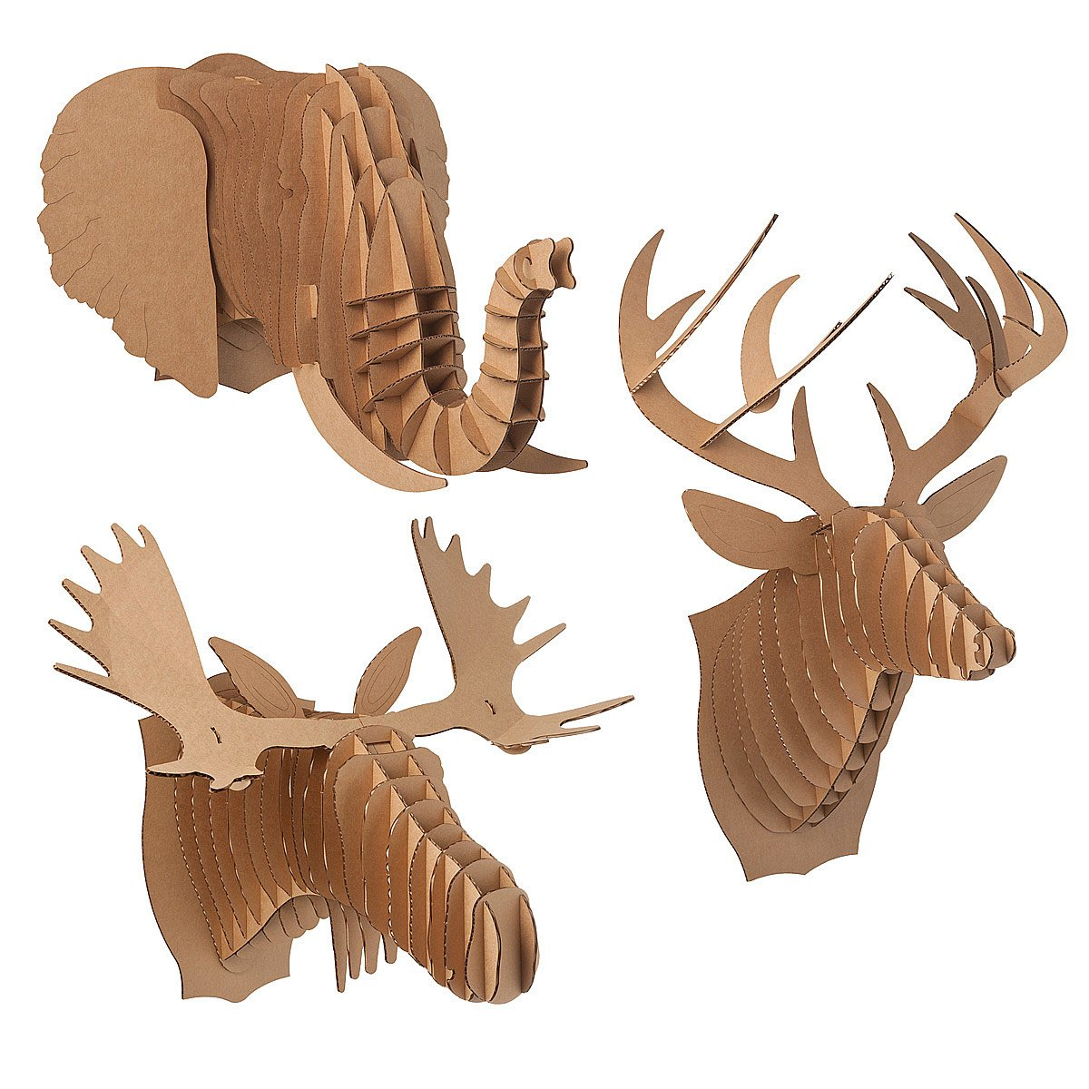 Fullsize Of Cardboard Deer Head