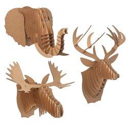 Small Crop Of Cardboard Deer Head