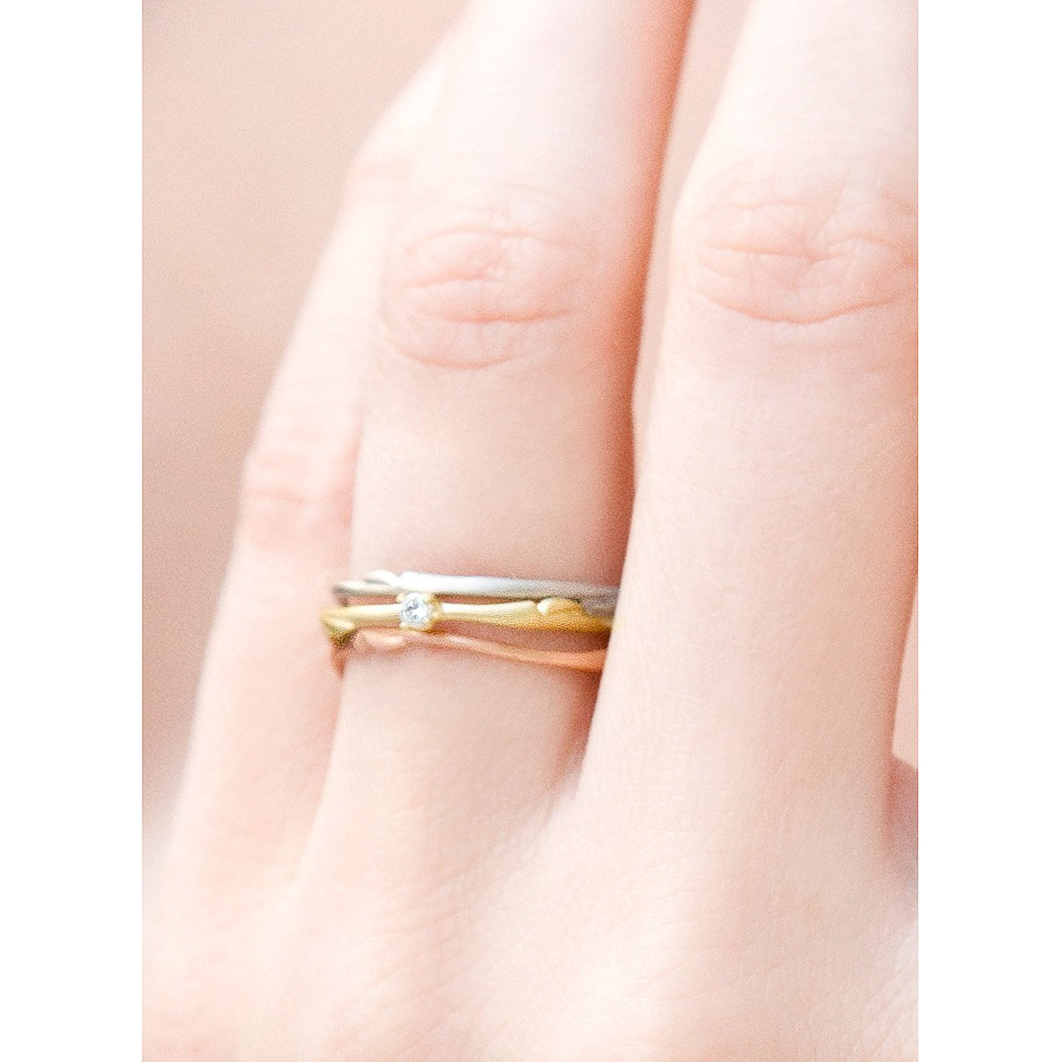 willow stackable wedding rings branch wedding ring Willow Stackable Wedding Rings 3 thumbnail