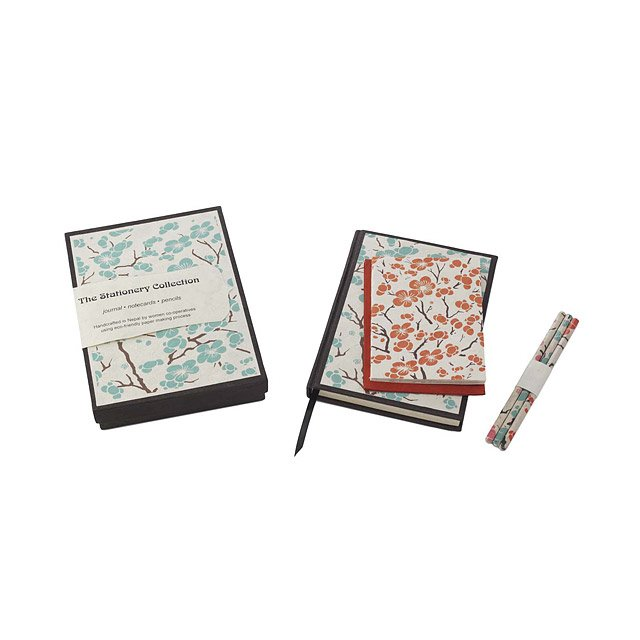 Cherry Blossom Stationery Set Cherries, Blossoms, Letters, Cards