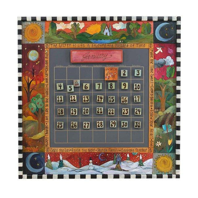 Perpetual Calendar Forever, Calendars, Wood, Chalkboard, Magnetic