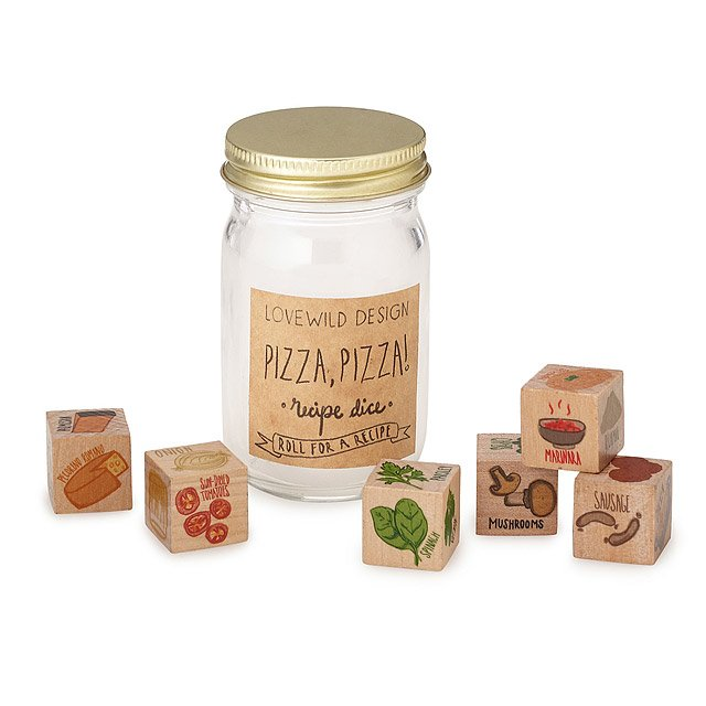 Pizza Topping Dice popular pizza toppings UncommonGoods