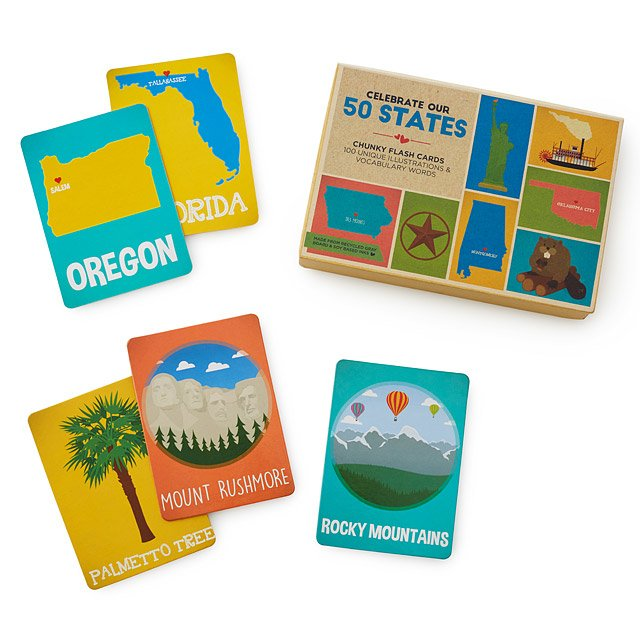 50 States Vocab Flashcards geography games UncommonGoods - vocab cards