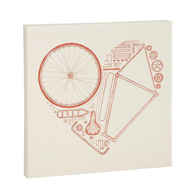 Bike Parts Heart Print bicycle art, bike parts UncommonGoods