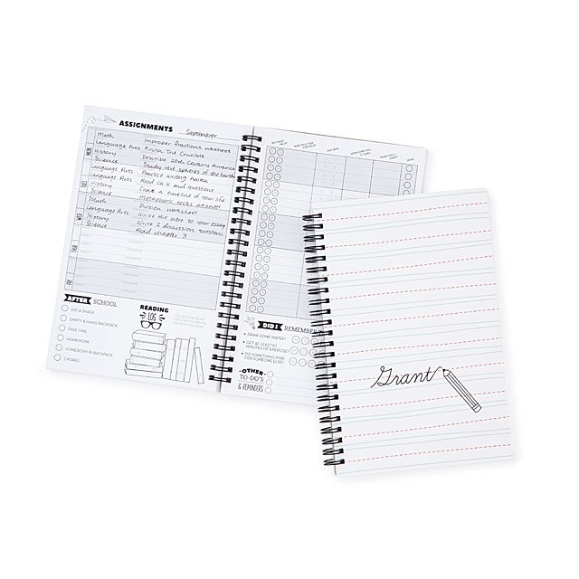 Personalized Kid\u0027s Assignment Book student planner, homework diary - homework assignment book