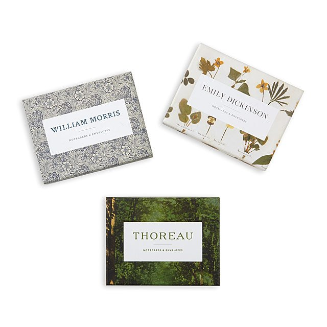 Literary Minds Notecards Henry David Thoreau, Emily Dickinson