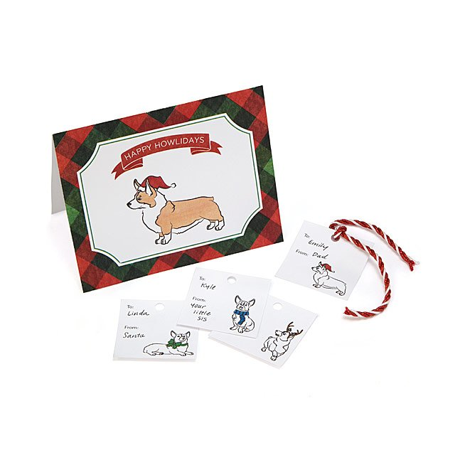 Printable Dog Spirit Holiday Cards  Gift Tags Free Holiday