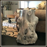 Tree Stump End Table (End Table #2) - Uncookie Cutter