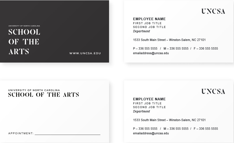 Business Cards - UNCSA
