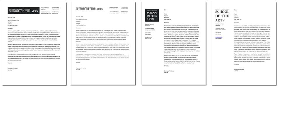 Letterhead and Envelope Template - UNCSA