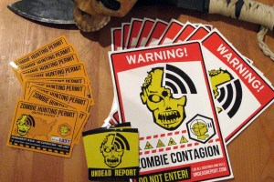 TONS of ZOMBIE STICKERS