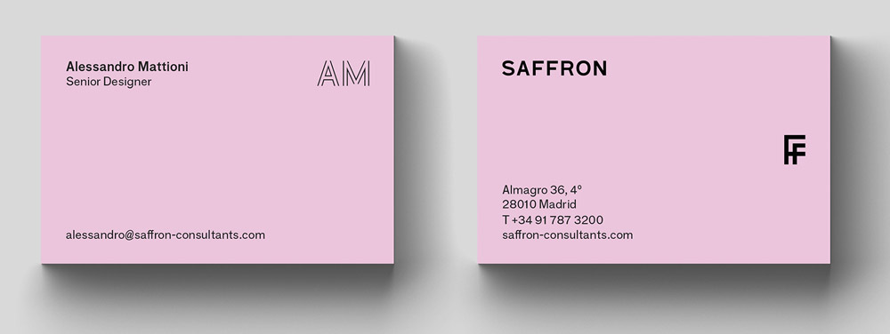 Brand New New Logo and Identity by and for Saffron - business name change letter